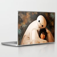 baymax Laptop & iPad Skins featuring Baymax Love by Kesen