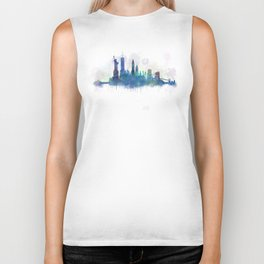 NY New York City Skyline Biker Tank