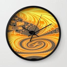 Abstract New Start Wall Clock