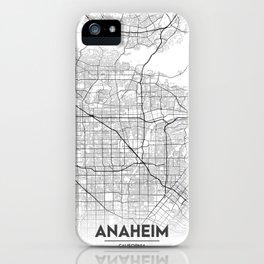 Minimal City Maps - Map of Anaheim, California, United States iPhone Case
