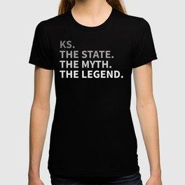 Kansas The State The Myth The Legend T-shirt