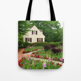 Cottage Garden - Colonial Williamsburg Tote Bag
