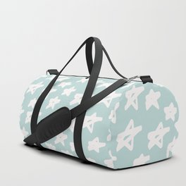 Stars on mint background Duffle Bag