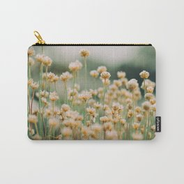 Vintage Chamomile Wildflowers Carry-All Pouch