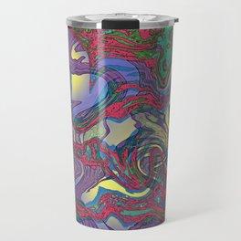 DRAGON WATER ABSTRACT Travel Mug