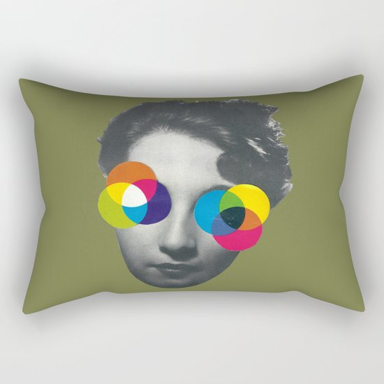 Psychedelic glasses Rectangular Pillow