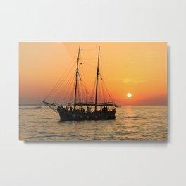 pirat boat Metal Print
