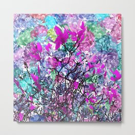 Floral abstract (81) Metal Print
