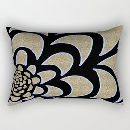 Gold petals Rectangular Pillow