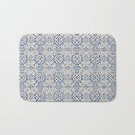 Vintage blue tiles pattern Bath Mat