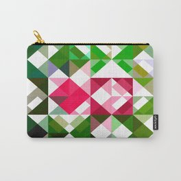 Pink Roses in Anzures 6 Abstract Triangles 1 Carry-All Pouch