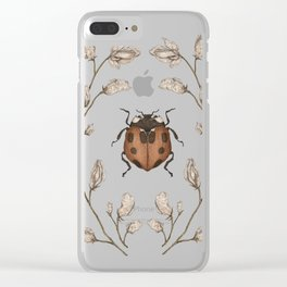 The Ladybug and Sweet Pea Clear iPhone Case
