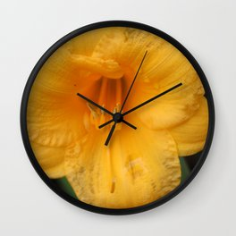 Yellow Day Lily Wall Clock