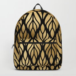 Havana Sultry Night Gold and Black Art Deco Backpack