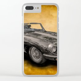 Jaguar E-Type 4.2 convertible Clear iPhone Case