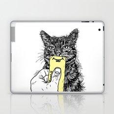 Cat Emoji - P0st it with a smile Laptop & iPad Skin