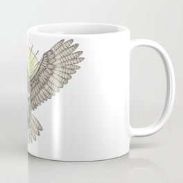 Mason Owl with skull, rule, compass and the eye that sees everything (tattoo style - color version) Coffee Mug