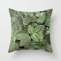 Just Green Throw Pillow