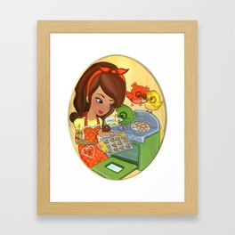 Sugar Chirps Framed Art Print