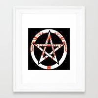 pentagram Framed Art Prints featuring Pentagram by Littlefox