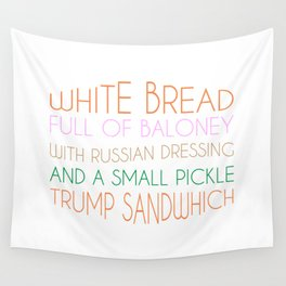 Trump Sandwhich Wall Tapestry