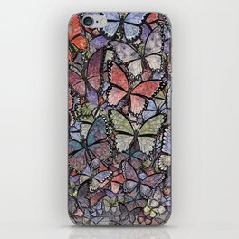 butterflies galore grunge version iPhone Skin