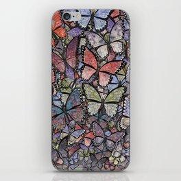 butterflies galore grunge version iPhone Skin