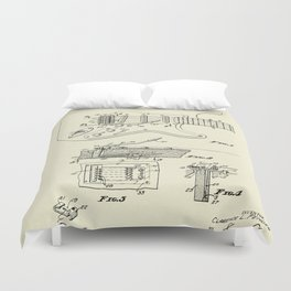 Tremolo Device for Stringed Instruments-1956 Duvet Cover
