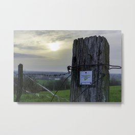 Teutoschleifen Tecklenburger Bergpfad Sign 2 bokeh Metal Print