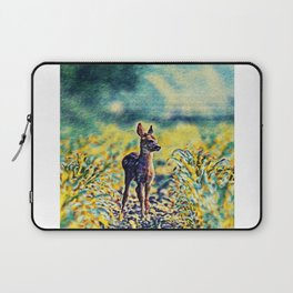 Lost Fawn Of The Dreamworld   Painting  Laptop Sleeve