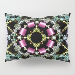 Bling Jewel Kaleidoscope Scanography Pillow Sham