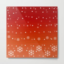 Snowflakes, stars and sparks. Metal Print