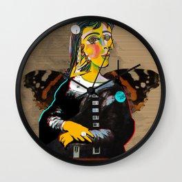 Mona Dora Lisa Maar Collage 1 Wall Clock