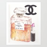 perfume Art Prints featuring Perfume by AshleyRose