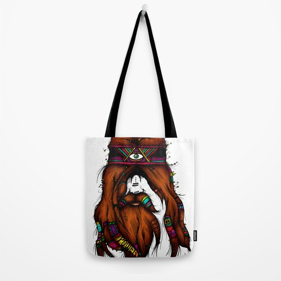Feel, Peace, Love & Power (Color Version) Tote Bag