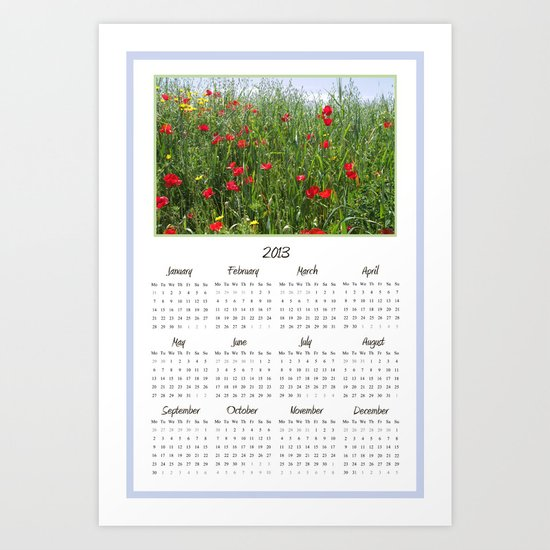Poppy Meadow 2013 Calendar Art Print
