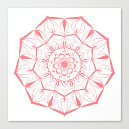 Living Coral Mandala no. 49 #society6 Canvas Print