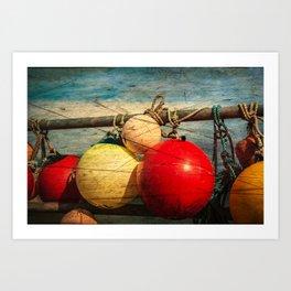 Nautical Bouys. Art Print