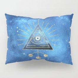 Magic Eye Blue Universe Pillow Sham