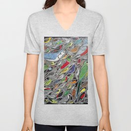 Toucans, parrots and tropical birds of Costa Rica Unisex V-Neck