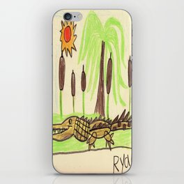 Crocodile Swamp iPhone Skin