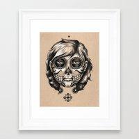 dia de los muertos Framed Art Prints featuring Dia de los Muertos by Bryan Collins