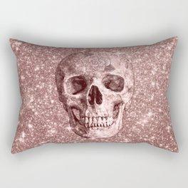 Modern sparkling Skull B Rectangular Pillow