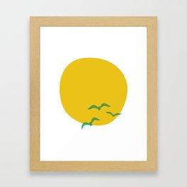 Midsummer Sun Framed Art Print