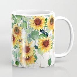 Sunflowers and Eucalyptus Garland  Coffee Mug