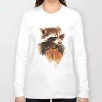 rocket raccoon Long Sleeve T-shirts featuring Rocket by cos-tam