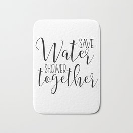 BATHROOM WALL ART, Save Water Shower Together,Bathroom Sign,Shower Decor,Funny Gift,Funny Print,Coup Bath Mat