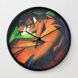 Tiger After Franz Marc Wall Clock