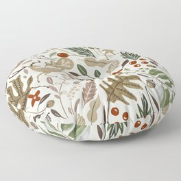 Christmas in the wild nature Floor Pillow