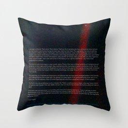 Pale Blue Dot - Voyager 1 & Carl Sagan quote Throw Pillow